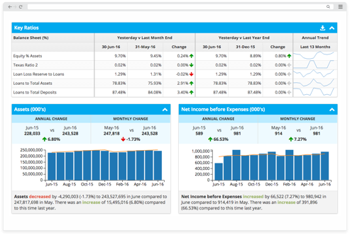 financial statement analysis software for banks